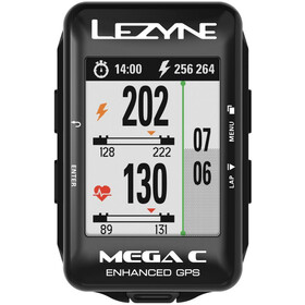 Lezyne Mega Colour GPS Nawigacja GPS czarny